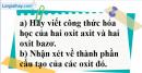Câu 3 phần bài tập học theo SGK – Trang 97 Vở bài tập hoá 8