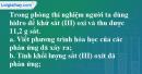 Câu 5* phần bài tập học theo SGK – Trang 119 Vở bài tập hoá 8
