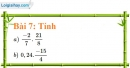 Bài 7 trang 12 Vở bài tập toán 7 tập 1