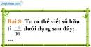 Bài 8 trang 13 Vở bài tập toán 7 tập 1