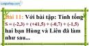 Bài 11 trang 16 Vở bài tập toán 7 tập 1