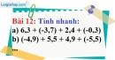 Bài 12 trang 17 Vở bài tập toán 7 tập 1