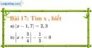 Bài 17 trang 19 Vở bài tập toán 7 tập 1