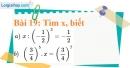 Bài 19 trang 21 Vở bài tập toán 7 tập 1