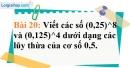 Bài 20 trang 21 Vở bài tập toán 7 tập 1