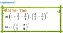 Bài 26 trang 25 Vở bài tập toán 7 tập 1