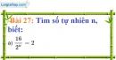 Bài 27 trang 25 Vở bài tập toán 7 tập 1