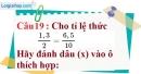 Phần câu hỏi bài 7 trang 26, 27 Vở bài tập toán 7 tập 1
