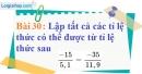 Bài 30 trang 28 Vở bài tập toán 7 tập 1