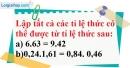 Bài 29 trang 28 Vở bài tập toán 7 tập 1