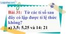 Bài 31 trang 28 Vở bài tập toán 7 tập 1
