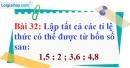 Bài 32 trang 29 Vở bài tập toán 7 tập 1