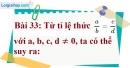 Bài 33 trang 29 Vở bài tập toán 7 tập 1