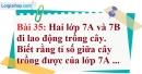 Bài 35 trang 31 Vở bài tập toán 7 tập 1