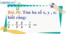 Bài 38 trang 33 Vở bài tập toán 7 tập 1