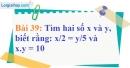Bài 39 trang 33 Vở bài tập toán 7 tập 1