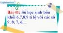 Bài 41 trang 34 Vở bài tập toán 7 tập 1