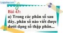 Bài 43 trang 36 Vở bài tập toán 7 tập 1