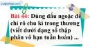 Bài 44 trang 37 Vở bài tập toán 7 tập 1