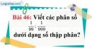 Bài 46 trang 37 Vở bài tập toán 7 tập 1
