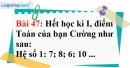 Bài 47 trang 39 Vở bài tập toán 7 tập 1