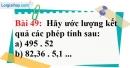 Bài 49 trang 39 Vở bài tập toán 7 tập 1