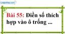 Bài 55 trang 42 Vở bài tập toán 7 tập 1