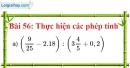 Bài 56 trang 44 Vở bài tập toán 7 tập 1