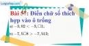 Bài 57 trang 45 Vở bài tập toán 7 tập 1