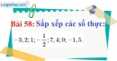 Bài 58 trang 45 Vở bài tập toán 7 tập 1