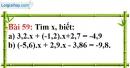 Bài 59 trang 45 Vở bài tập toán 7 tập 1