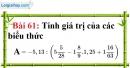 Bài 61 trang 46 Vở bài tập toán 7 tập 1