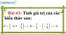 Bài 63 trang 47 Vở bài tập toán 7 tập 1