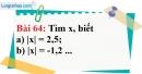 Bài 64 trang 48 Vở bài tập toán 7 tập 1