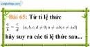 Bài 65 trang 48 Vở bài tập toán 7 tập 1