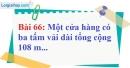 Bài 66 trang 49 Vở bài tập toán 7 tập 1
