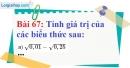 Bài 67 trang 50 Vở bài tập toán 7 tập 1
