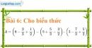 Bài 6 trang 10 Vở bài tập toán 7 tập 1
