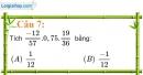 Phần câu hỏi bài 3 trang 12 Vở bài tập toán 7 tập 1