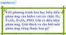 Câu 1 phần bài tập học theo SGK – Trang 127 Vở bài tập hoá 8
