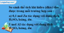 Câu 33.12 phần bài tập trong sách bài tập – Trang 125 Vở bài tập hoá 8