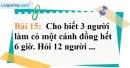 Bài 15 trang 62 Vở bài tập toán 7 tập 1