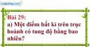 Bài 29 trang 70 Vở bài tập toán 7 tập 1