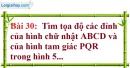 Bài 30 trang 70 Vở bài tập toán 7 tập 1