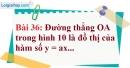 Bài 36 trang 75 Vở bài tập toán 7 tập 1