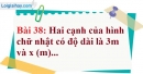 Bài 38 trang 76 Vở bài tập toán 7 tập 1