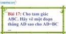 Bài 17 trang 94 Vở bài tập toán 7 tập 1