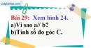 Bài 29 trang 101 Vở bài tập toán 7 tập 1