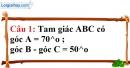 Phần câu hỏi bài 1 trang 110 Vở bài tập toán 7 tập 1