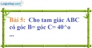 Bài 5 trang 113 Vở bài tập toán 7 tập 1